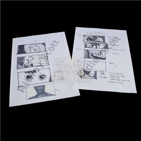Alien: Covenant – Ridley Scott's Production Used Storyboard Prints – A69