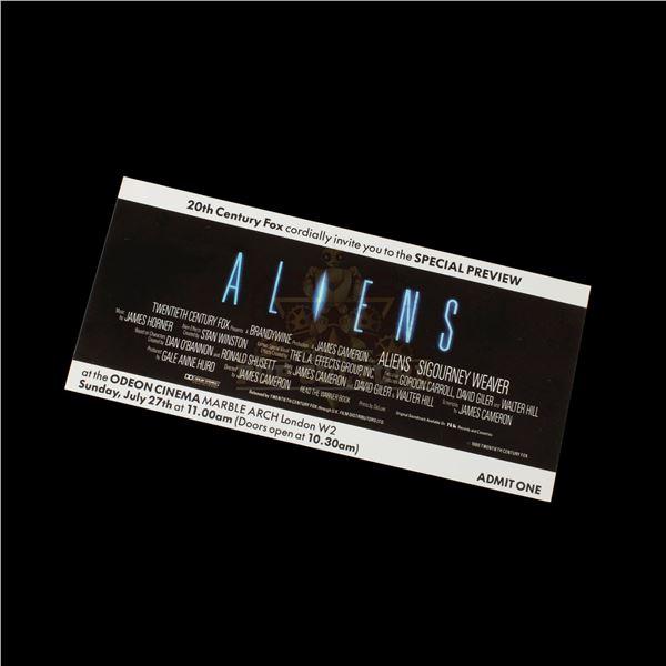 Aliens – Original Special Preview Ticket – A896