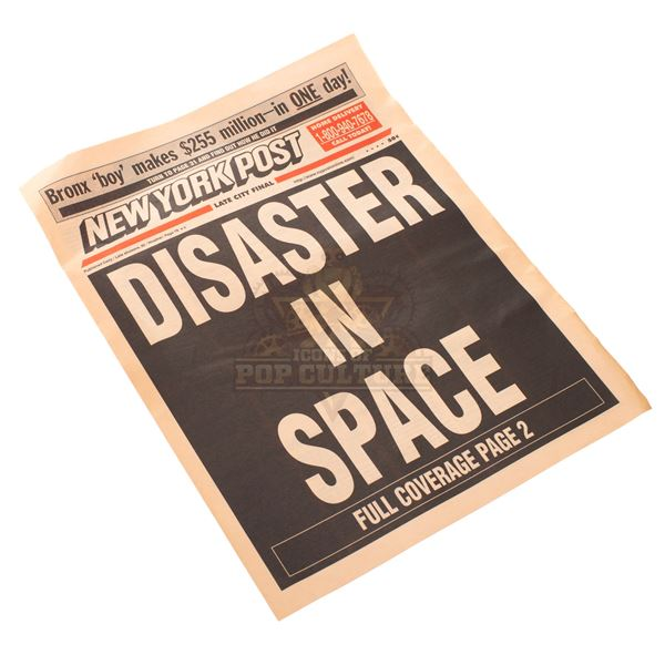 """Armageddon – """"Disaster In Space"""" Newspaper - A187"""