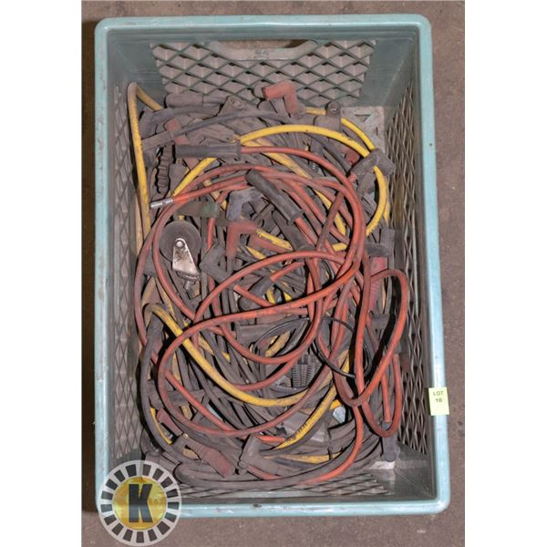 TOTE OF ASSORTED SPARK PLUG WIRES