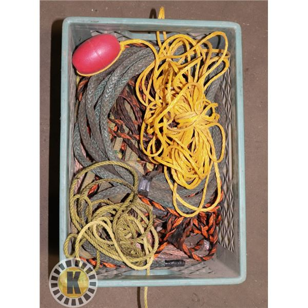 CRATE OF ASSORTED ROPE