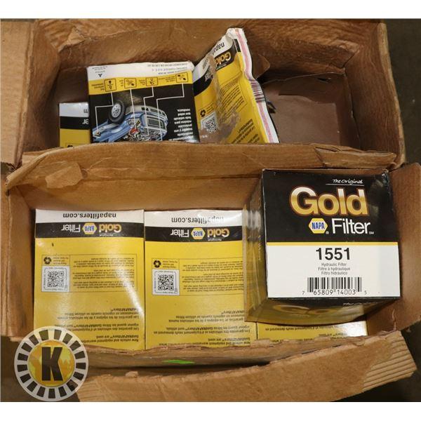 BOX OF NAPA GOLD 1551 HYDRAULIC FILTERS
