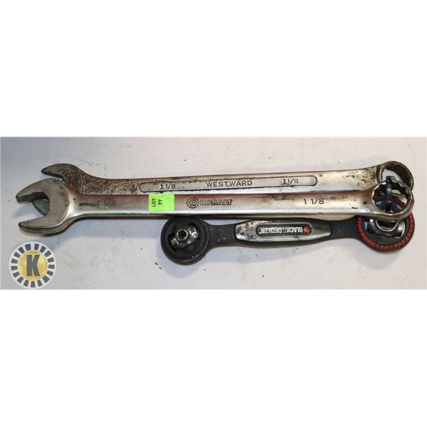 """BUNDLE OF  B&D MULTI WRENCH WITH WESTWARD 1-1/8"""""""
