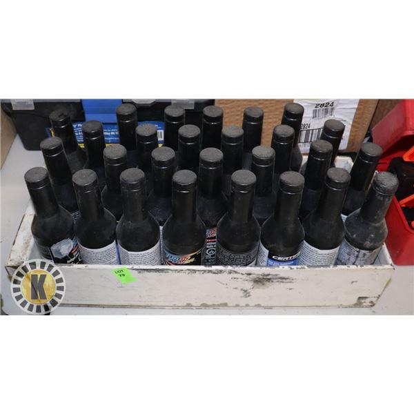 BOX OF ASSORTED GAS LINE ANTIFREEZE
