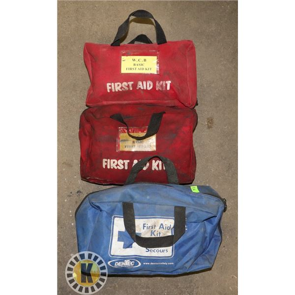 LOT OF 3 FIRST AID KITS