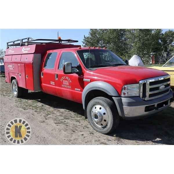 2005 FORD F550 SERVICE TRUCK 4X4 CREW CAB DIESEL