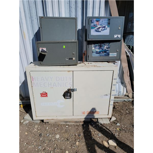 LOT OF METAL CABINETS