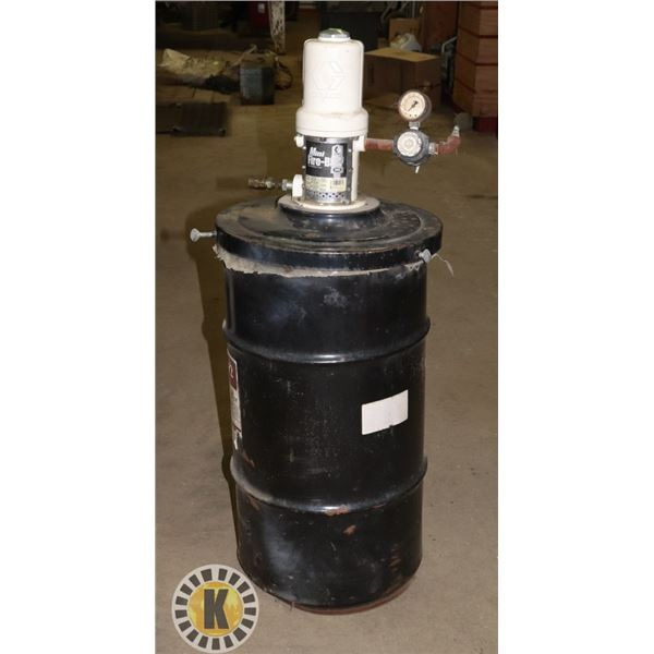 MAGNAPLEX #2 GREASE BARREL WITH GRACO AIR POWERED