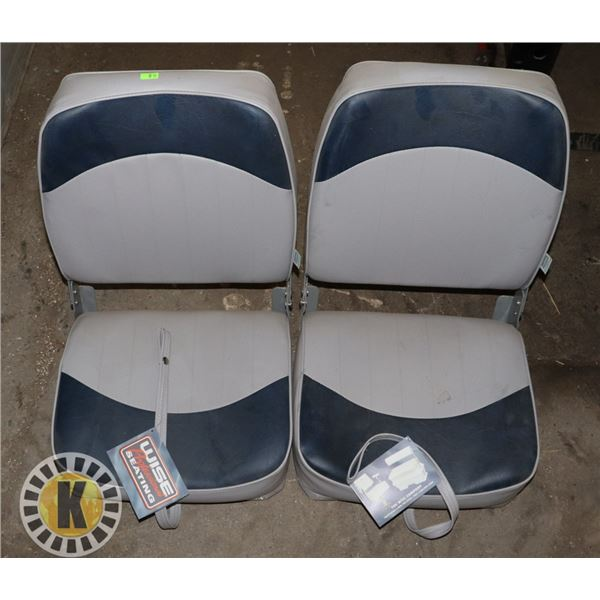 PAIR OF WISE PROFESSIONAL BOAT SEATS
