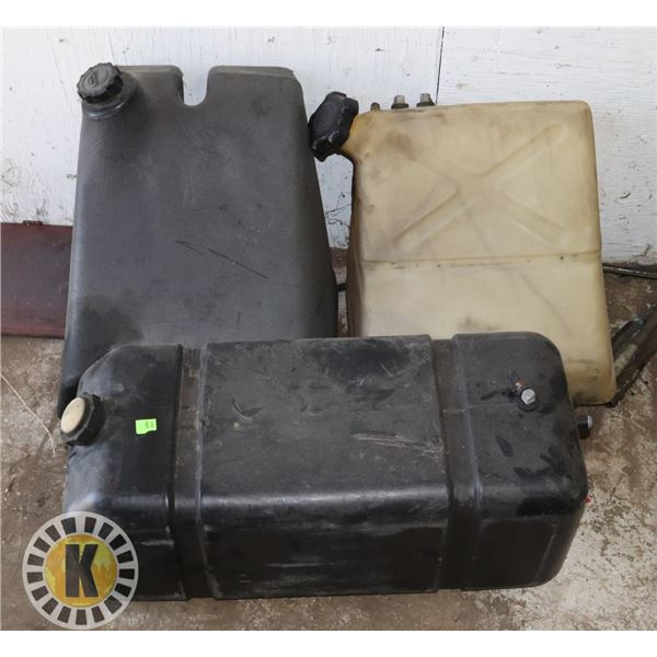 LOT OF 3 ASSORTED FUEL TANKS