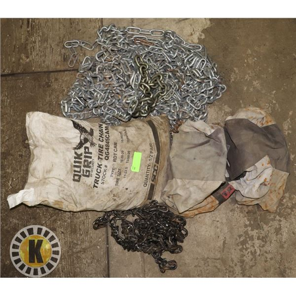 FULL SET OF SEMI SINGLE TIRE & DUALLY TIRE CHAINS
