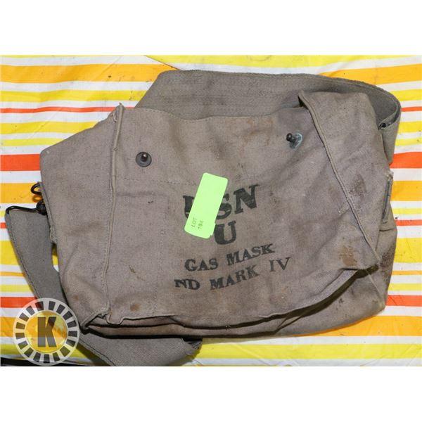 VINTAGE USN CANVAS GAS MASK BAG