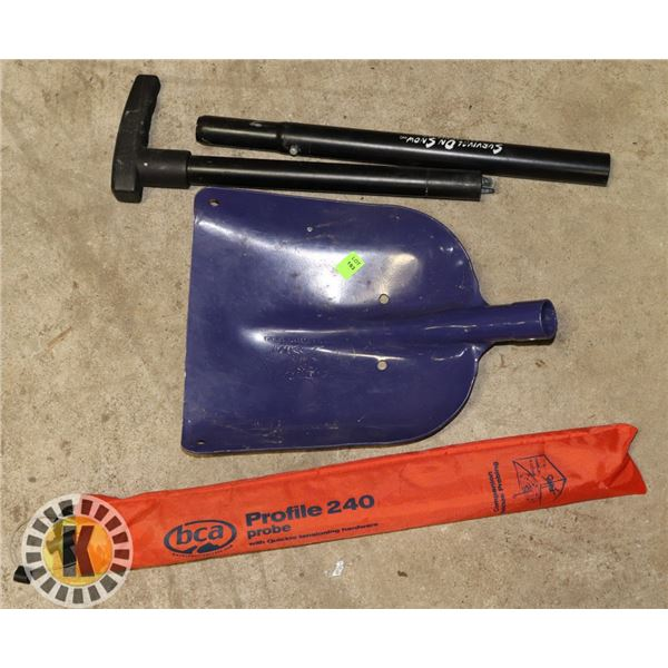 SKIDOO SHOVEL WITH PCA PROBES