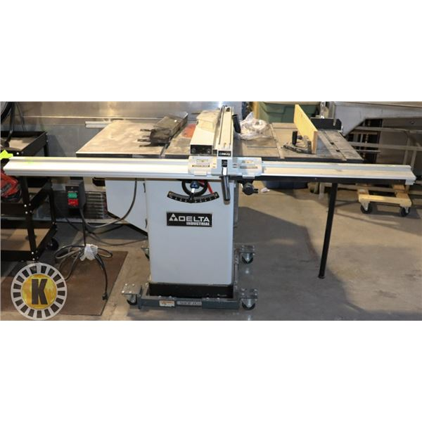 DELTA  INDUSTRIAL TABLE SAW ON ROLLING STAND