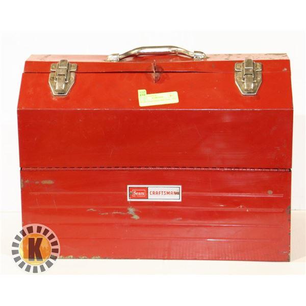 SEARS CRAFTSMAN RED TOOL  BOX