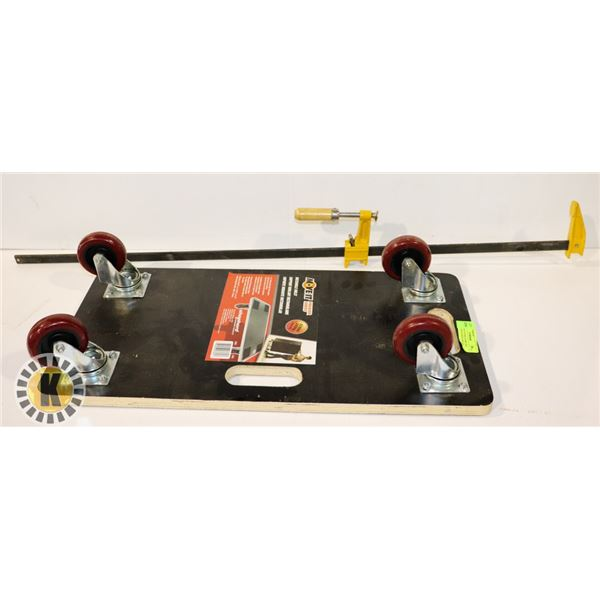 """CANMORE 36"""" BAR CLAMP AND MOVE IT RECTANGLE DOLLY"""