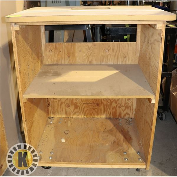 ROUTER TABLE TOP AND CART