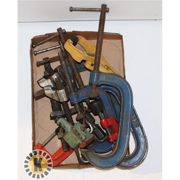 FLAT OF ASSORTED SIZE AND STYLE CLAMPS