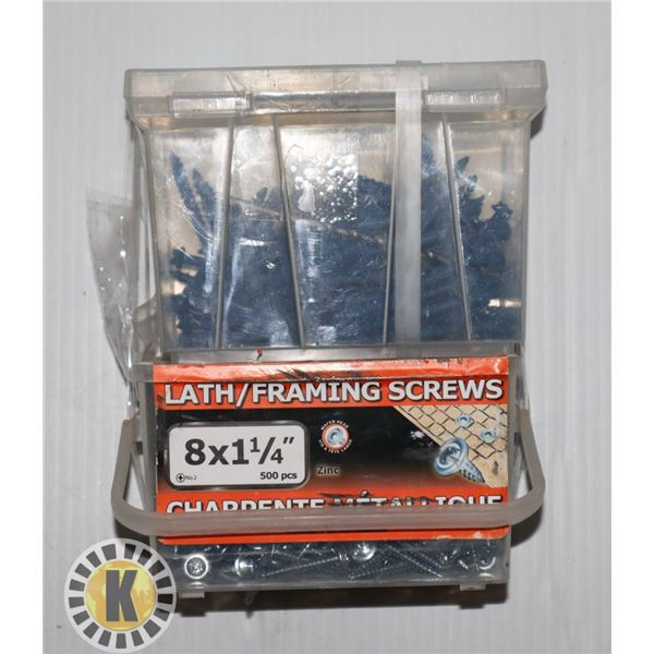 2 BOXES OF SCREWS