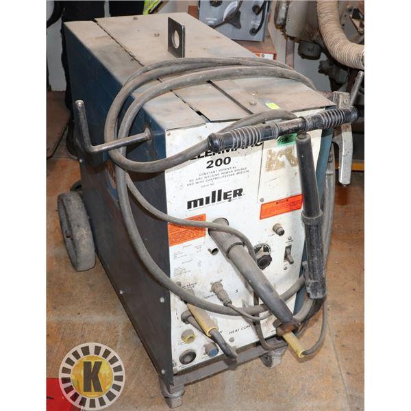 MILLERMATIC 200 DC ARC WELDER ON WHEELS