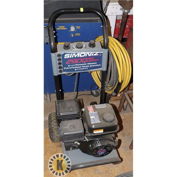 SIMONIZ 2900PSI GAS PRESSURE WASHER
