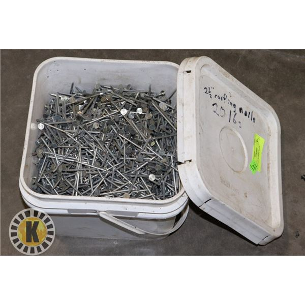 """20LBS 2-1/2"""" ROOFING NAILS"""