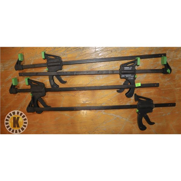 LOT OF 4 CLAMPS/ SPREADERS