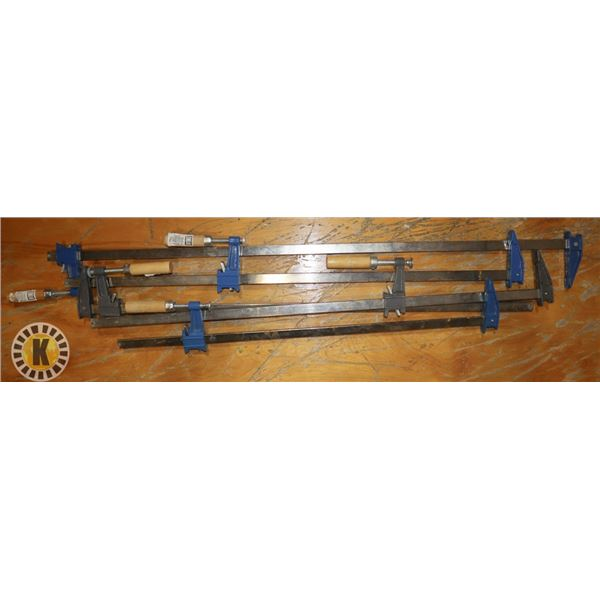 LOT OF 5 POWERFIST BAR CLAMPS