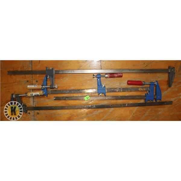 LOT OF 4 ASSORTED CLAMPS