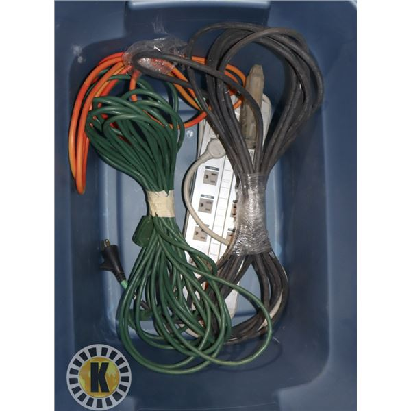 TOTE WITH SURGE PROTECTOR, 10' EXTENSION CORD,