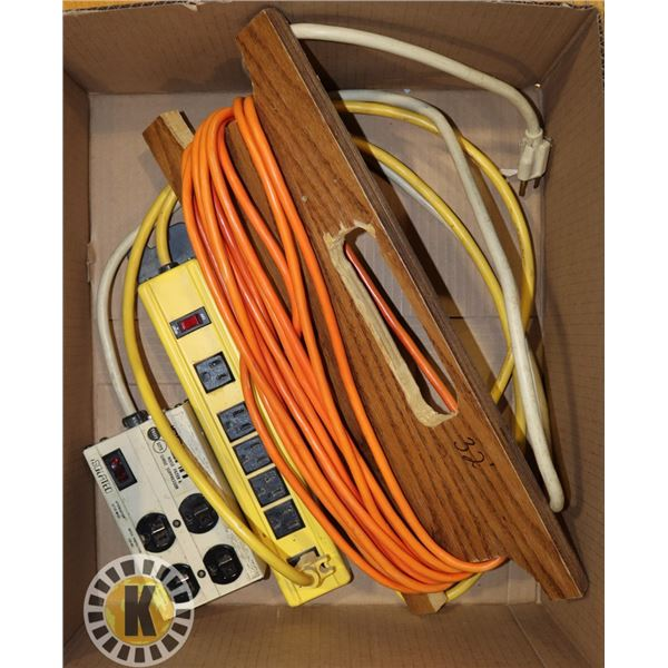 BOX WITH 32' EXTENSION CABLE, AND TWO POWER BARS