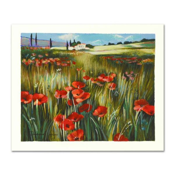 """Yuri Dupond, """"Red Meadow"""" Limited Edition Serigraph, Numbered and Hand Signed with Certificate of Au"""