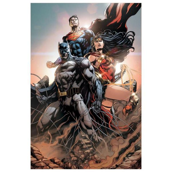 """DC Comics, """"Trinity #1"""" Numbered Limited Edition Giclee on Canvas by Jason Fabok with COA."""