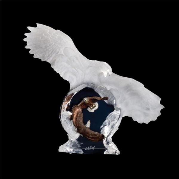 """Christopher Pardell, """"Eagle Spirit"""" Limited Edition Mixed Media Lucite Sculpture with COA."""