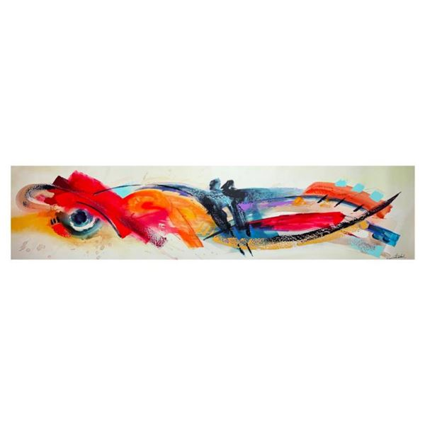 """Alfred Gockel, """"Fire and Ice I"""" Hand Signed Limited Edition on Canvas with Letter of Authenticity."""