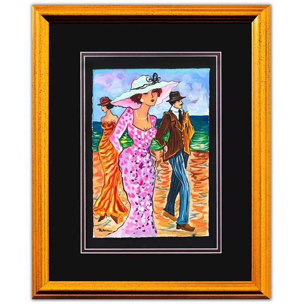 "Patricia Govezensky- Original Watercolor ""Bora Bora Beach"""