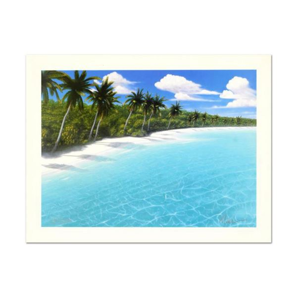 """Dan Mackin, """"Endless Beaches"""" Hand Signed Lithograph from a Sold Out Limited Edition, Numbered and H"""
