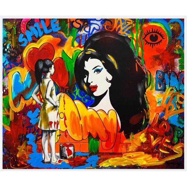 """Nastya Rovenskaya- Mixed Media """"Amy Winehouse"""""""