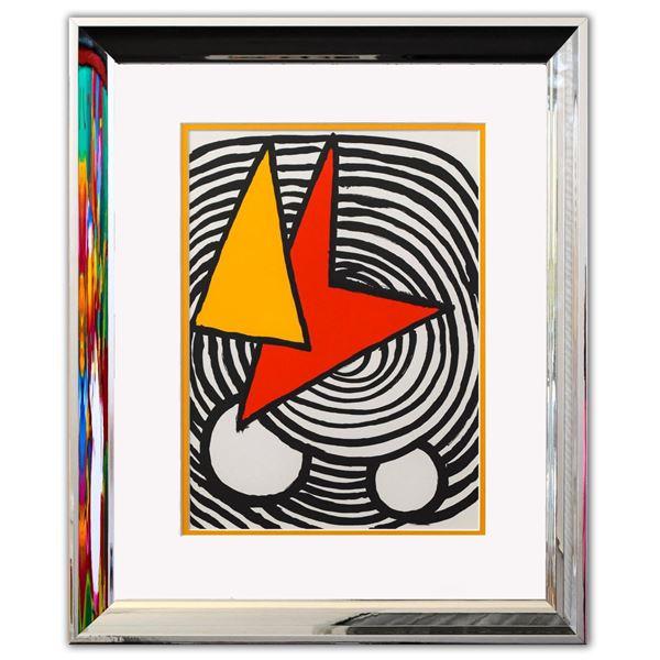 "Alexander Calder- Lithograph ""DLM201 - Triangle et quadrilatere"""