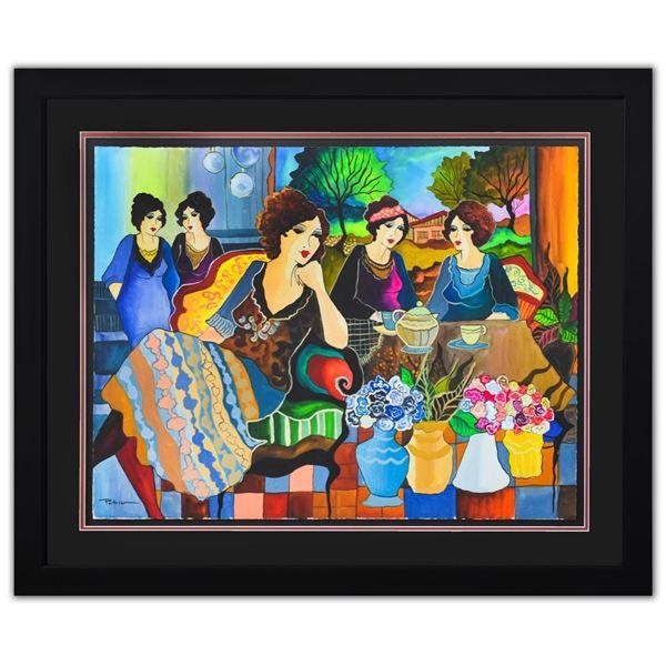 "Patricia Govezensky- Original Watercolor ""Family Time"""