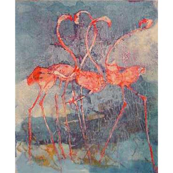 "Edwin Salomon- Original Serigraph ""Love is in the Air"""