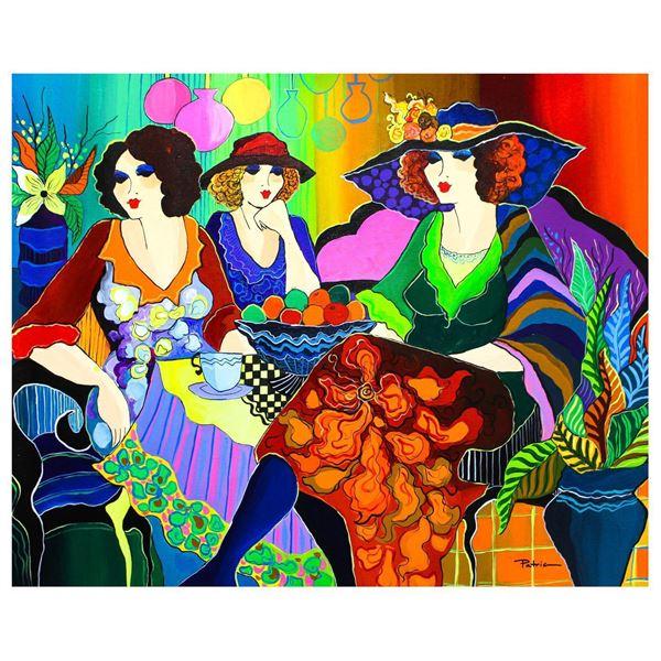 "Patricia Govezensky- Original Acrylic on Canvas ""Girls Night"""