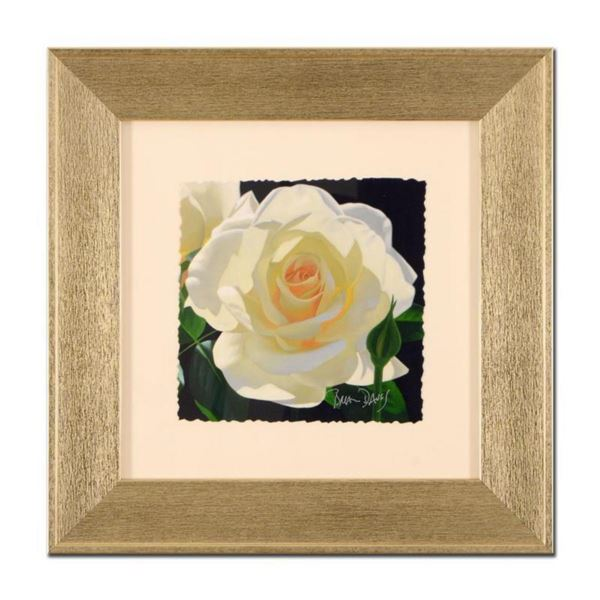 """Brian Davis, """"French Lace with Bud"""", Framed Limited Edition Giclee, Hand Signed with Limited Edition"""