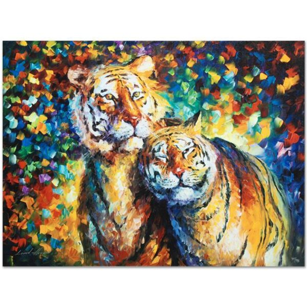 """Leonid Afremov (1955-2019) """"Family Portrait"""" Limited Edition Giclee on Canvas, Numbered and Signed."""
