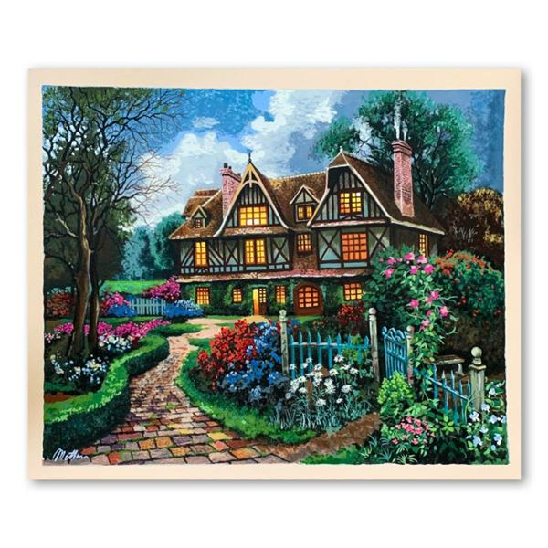 """Anatoly Metlan, """"Country Cottage"""" Hand Signed Limited Edition Serigraph on Paper with Letter of Auth"""