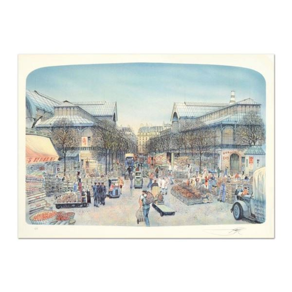 """Rolf Rafflewski, """"Les Halles"""" Limited Edition Lithograph, Numbered and Hand Signed."""