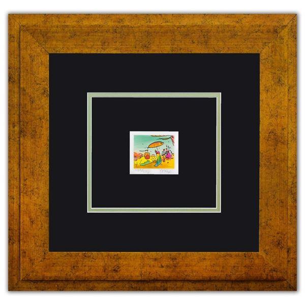 "Peter Max- Original Lithograph ""Sage Sailboat and Vase Series I"""
