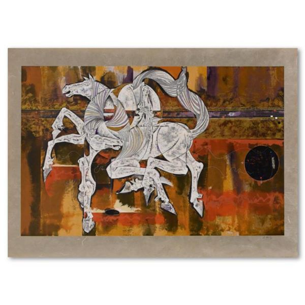 """Lu Hong, """"Equus"""" Limited Edition Serigraph on Rice Paper, Numbered and Hand Signed with Letter of Au"""