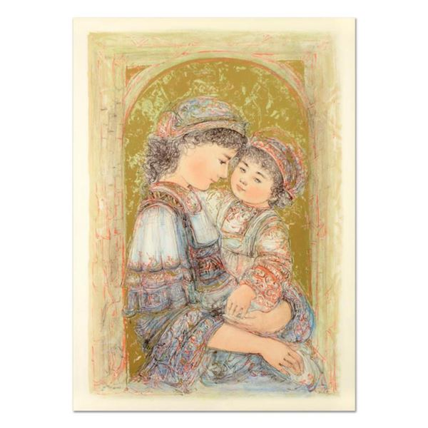 """Edna Hibel (1917-2014), """"Mother and Child of Thera"""" Limited Edition Lithograph, Numbered and Hand Si"""