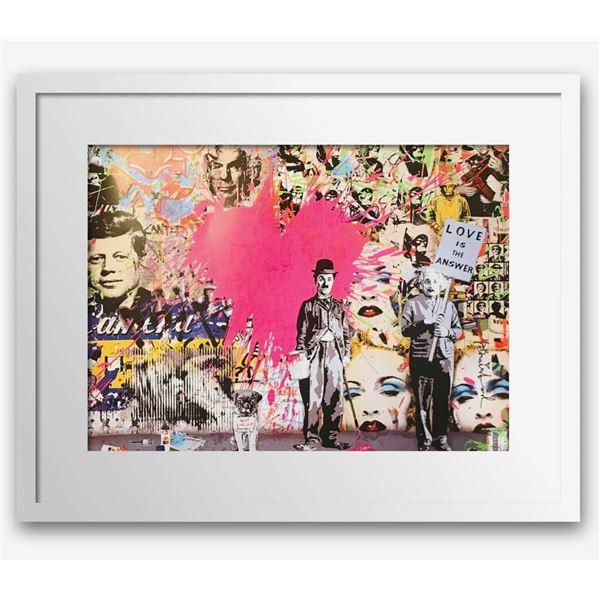 "Mr. Brainwash- Original Offset Lithograph on Paper ""Juxtapose"""